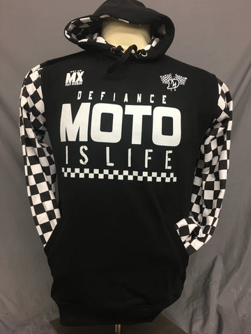 Finishline Hoodie - Moto is life - Defiance Lifestyle, Race Apparel - Casual to Custom
