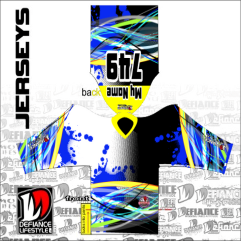 CUSTOM MADE Race Jersey - Defiance Lifestyle hypnotic blue