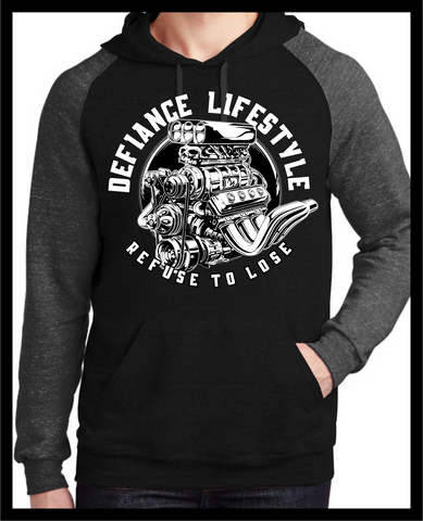 True Muscle - Refuse to Lose - Darkness 2 tone Hoodie - Defiance Lifestyle, Race Apparel - Casual to Custom