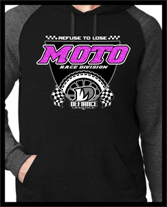 New Age Shield Sweatshirt- Pink Glitter black 2 tone Hoodie - Defiance Lifestyle, Race Apparel - Casual to Custom