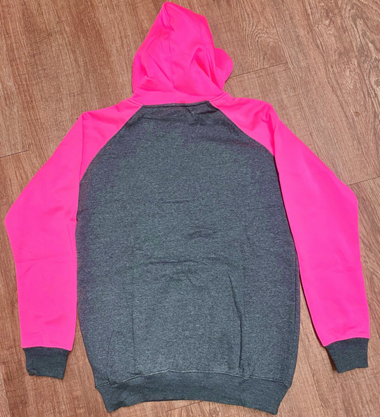 NEW Moto Shield Neon Pink/grey Racing Sweatshirt