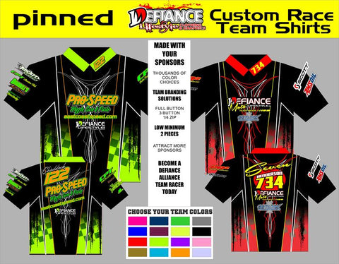 Pinned Polo Semi Custom - Defiance Lifestyle, Race Apparel - Casual to Custom