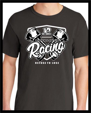 Piston Weekends T-shirt - black - Defiance Lifestyle, Race Apparel - Casual to Custom