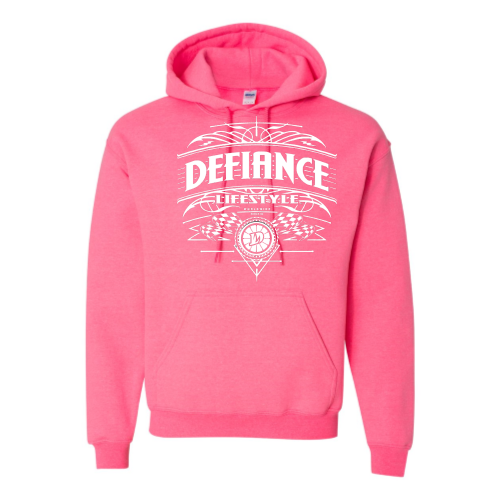 Podium Sweatshirt - Pink Hoodie - Defiance Lifestyle, Race Apparel - Casual to Custom