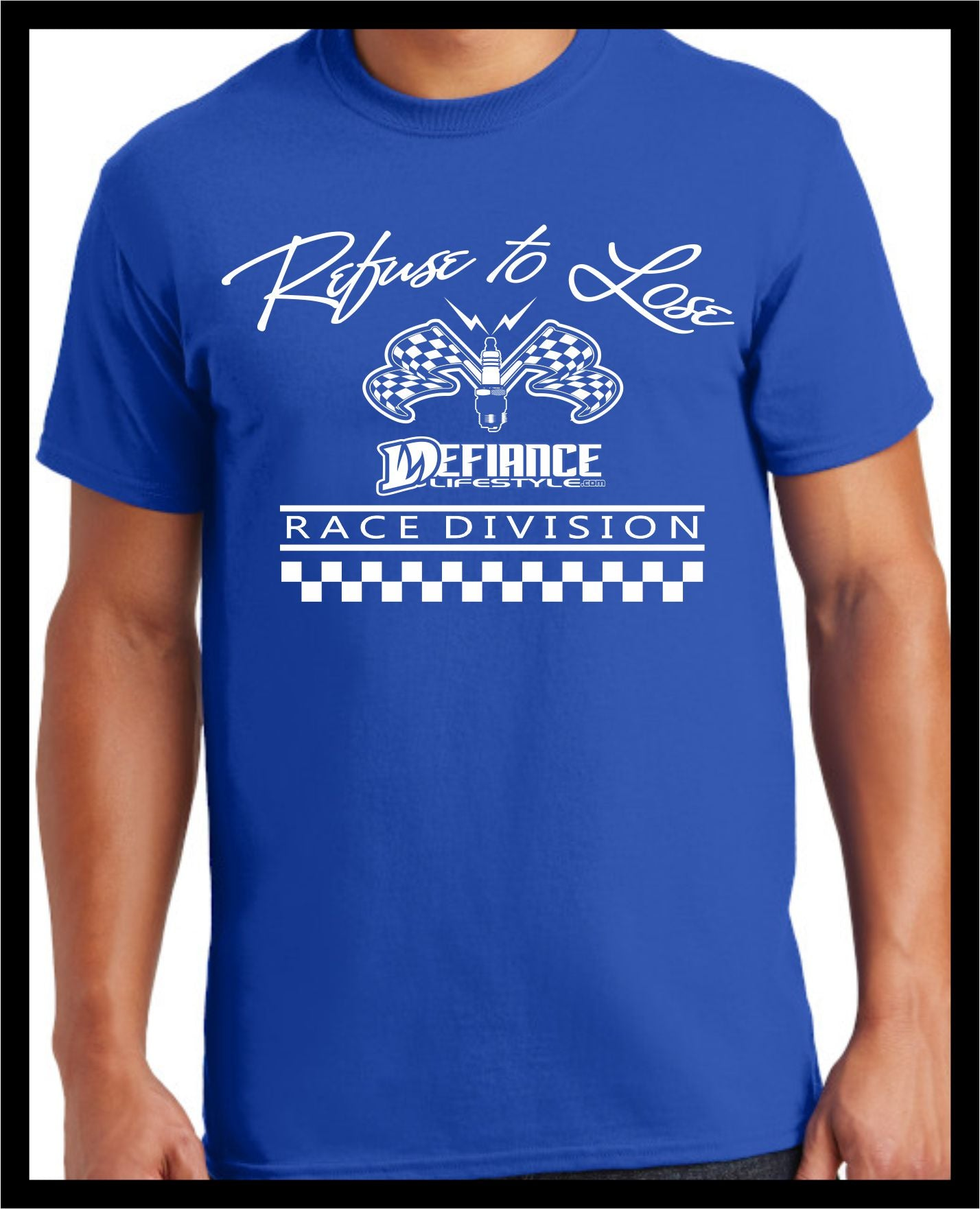 Refuse Spark T-Shirt - blue - Defiance Lifestyle, Race Apparel - Casual to Custom