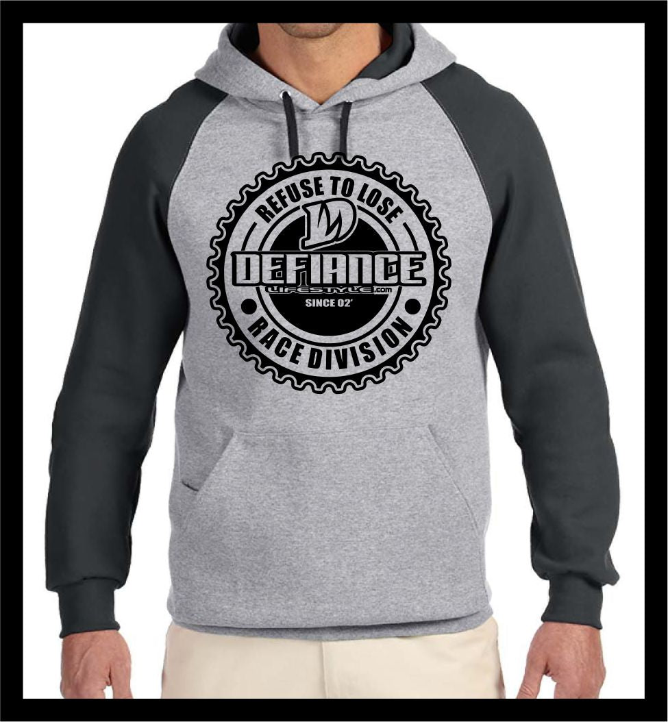 Corporate Seal Sweatshirt - 2 tone Hoodie - Defiance Lifestyle, Race Apparel - Casual to Custom