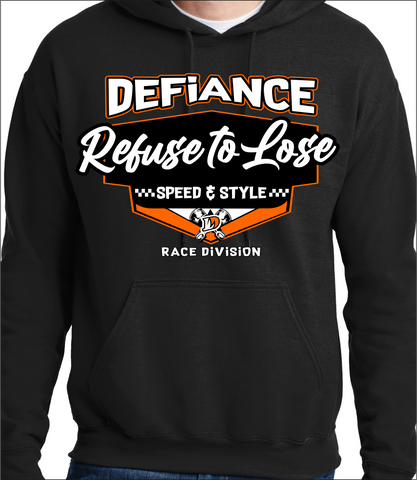 Neon Orange Speed Shop - black Hoodie