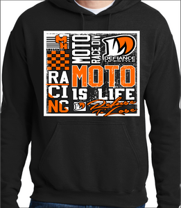 Neon Orange Racing Squared Up - black Hoodie
