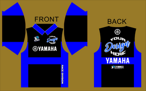 team BLU Polo Semi Custom - Defiance Lifestyle, Race Apparel - Casual to Custom
