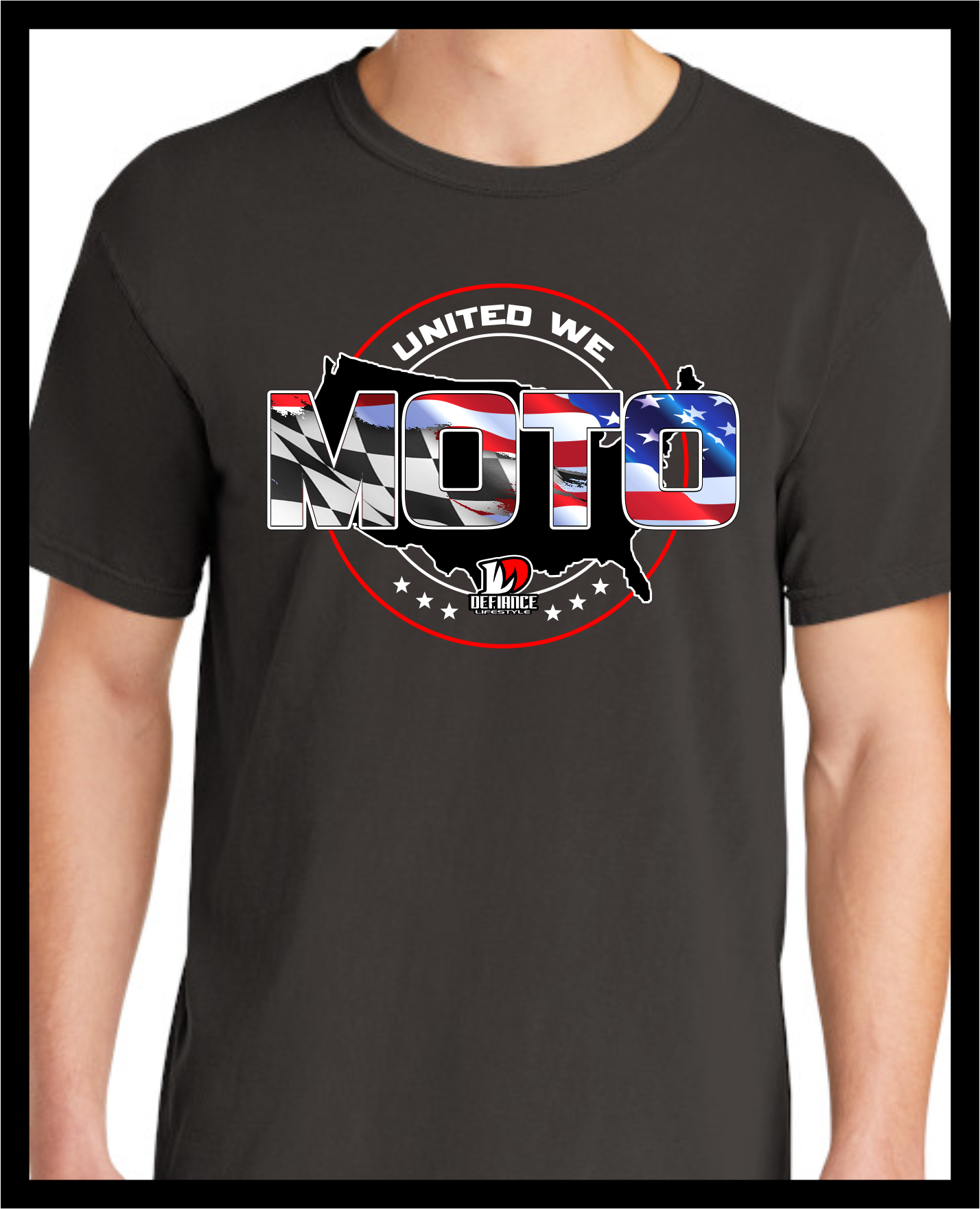 UNITED We MOTO Race T-Shirt - black - Defiance Lifestyle, Race Apparel - Casual to Custom