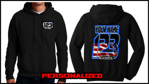 Custom USA Sweatshirt - BLACK - Defiance Lifestyle, Race Apparel - Casual to Custom