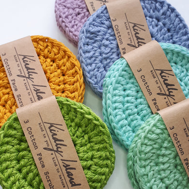 Jumbo Cotton Crochet Jumbo Scrubbies - 3pk