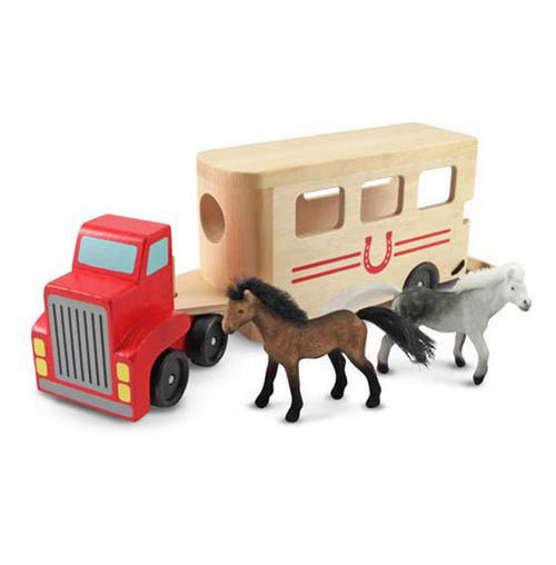 Horse Carrier Wooden Play Set