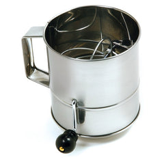 Stainless Steel: 8 Cup Flour Sifter