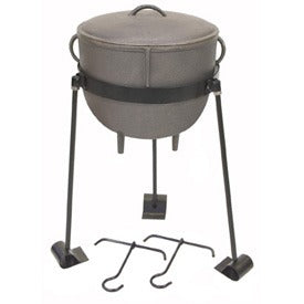 Cast Iron: 4-Gal. Stew Pot w/Cast Iron Lid