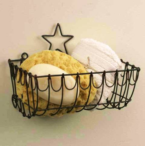 Star Wire Wall Basket