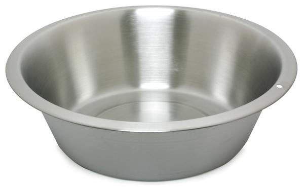 Stainless Steel:  Flat Bottom Dish Pan