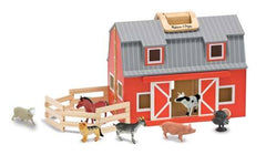 Toys: Wooden Barn Set