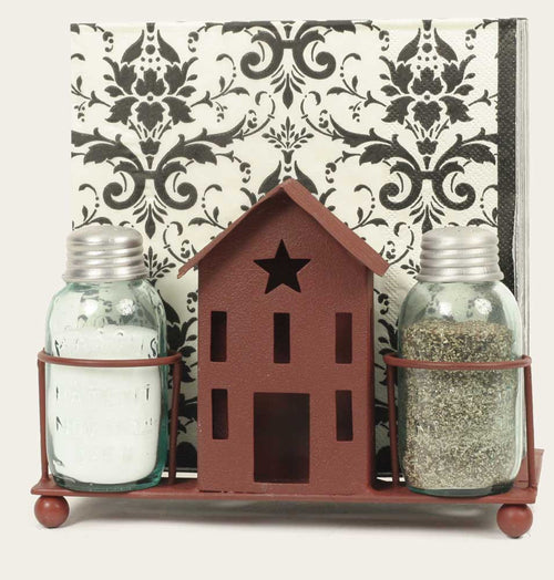 Saltbox House Salt & Pepper Shakers/Napkin holder