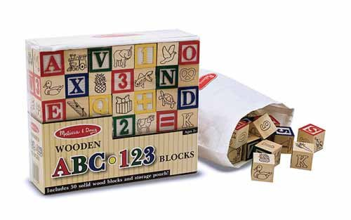 Toys: Wooden ABC/123 Blocks
