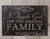 Amazing Family Metal Sign