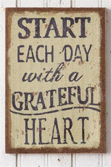 Start Each Day Burlap Sign