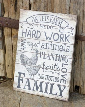 On This Farm Sign