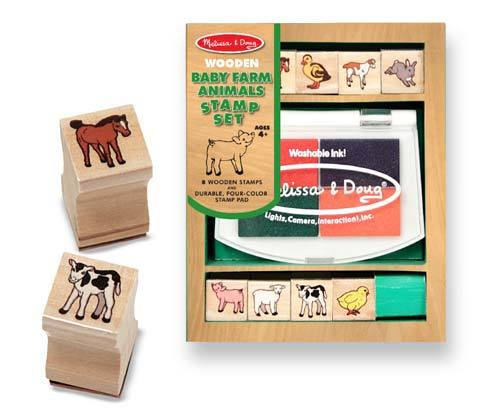 Art: Baby Farm Animal Stamp Set