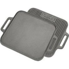 "Cast Iron: 14"" Reversible Square Griddle"