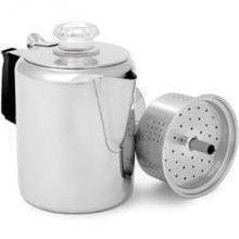 Stainless Steel: 9-cup Coffee Percolator