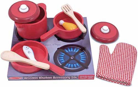 Toy: 8-Pc. Wooden Kitchen Set