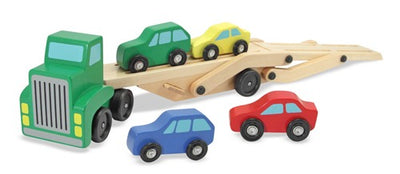 Toys:  Wooden Car Carrier