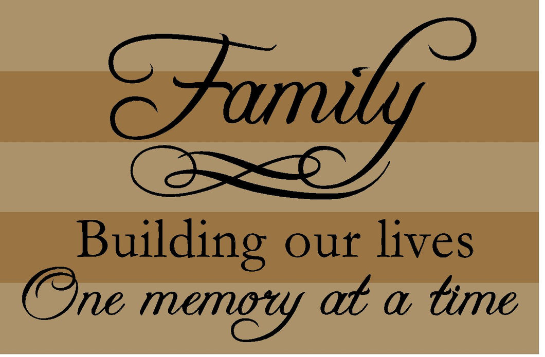Family - building lives