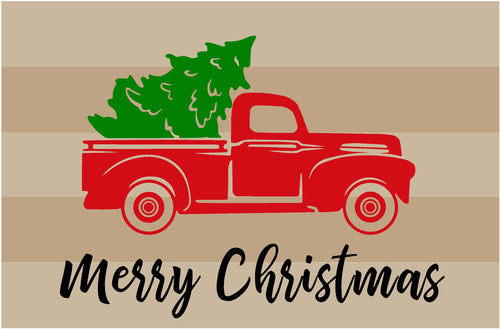 Merry Christmas - vintage truck