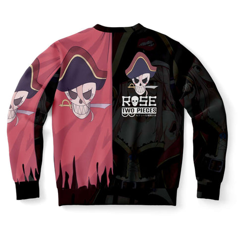 Rose Pirate captain anime girl Unisex AOP Sweatshirt