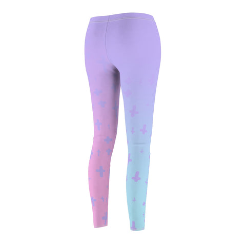 Image of Light Pastel Goth Cross V3.3 Pattern Women's Cut & Sew Casual Leggings