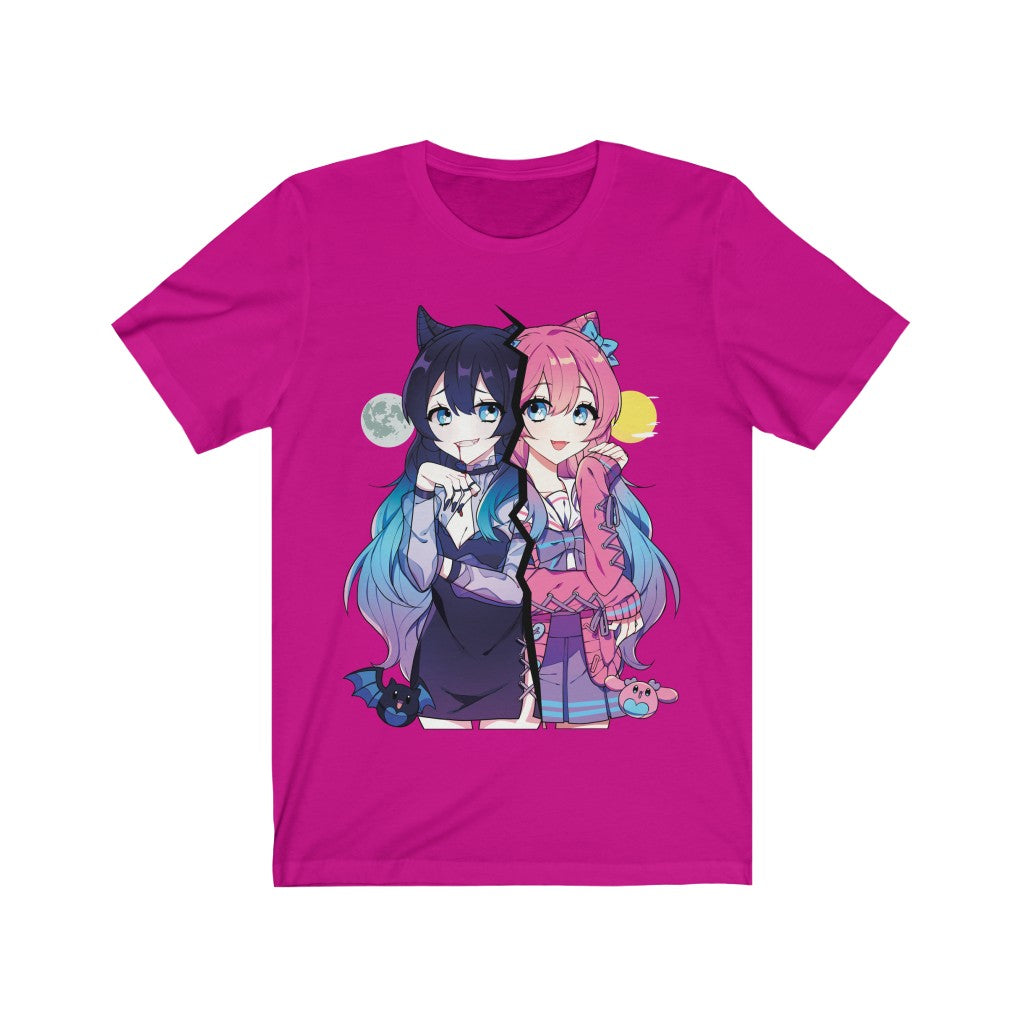 Helena and Helana Kawaii Anime Vampire Twins Unisex T-shirt