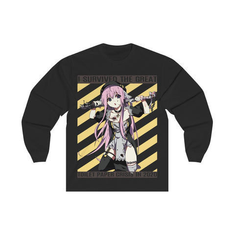 Image of Lucille Toilet Paper Crisis Survivor Sexy Bad Anime Nun Unisex Long Sleeve T-shirt