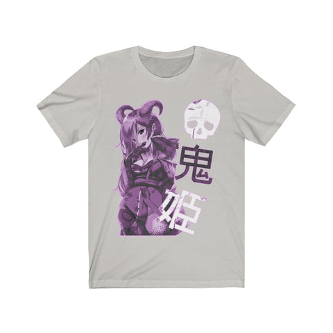 Image of Purple Oni-Hime Hentai Demon Kawaii Anime Girl Unisex T-shirt