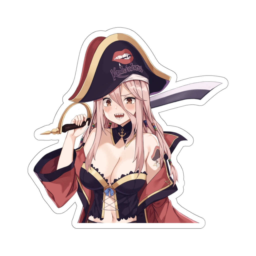 Rose anime pirate girl Kiss-Cut Stickers
