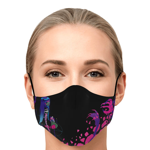 Image of Chiroko Necromancer anime girl Face Mask
