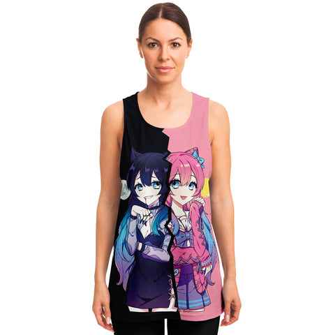 Helena and Helana Kawaii anime girl Vampire Twins Unisex Tank Top