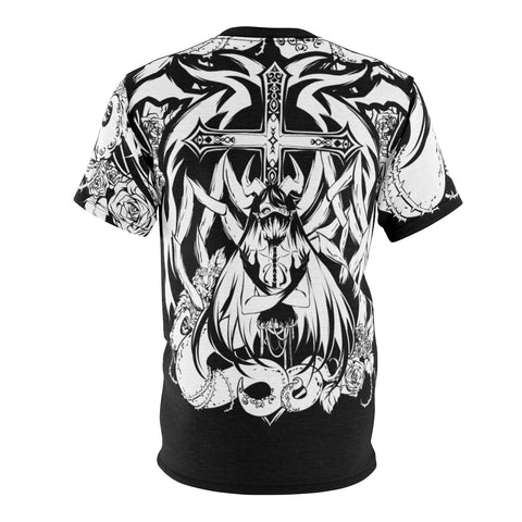 Voido gothic anime Unisex AOP Cut & Sew T-shirt
