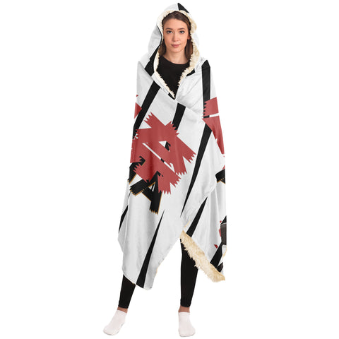 Image of Katarina B&W Anime Manga Waifu Hooded Blanket