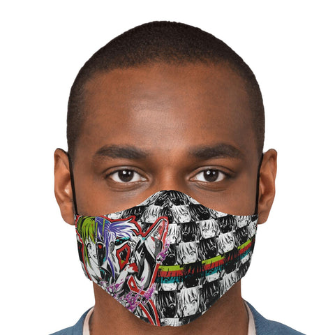Image of Kandi Cute Yandere Anime Girl Face Mask