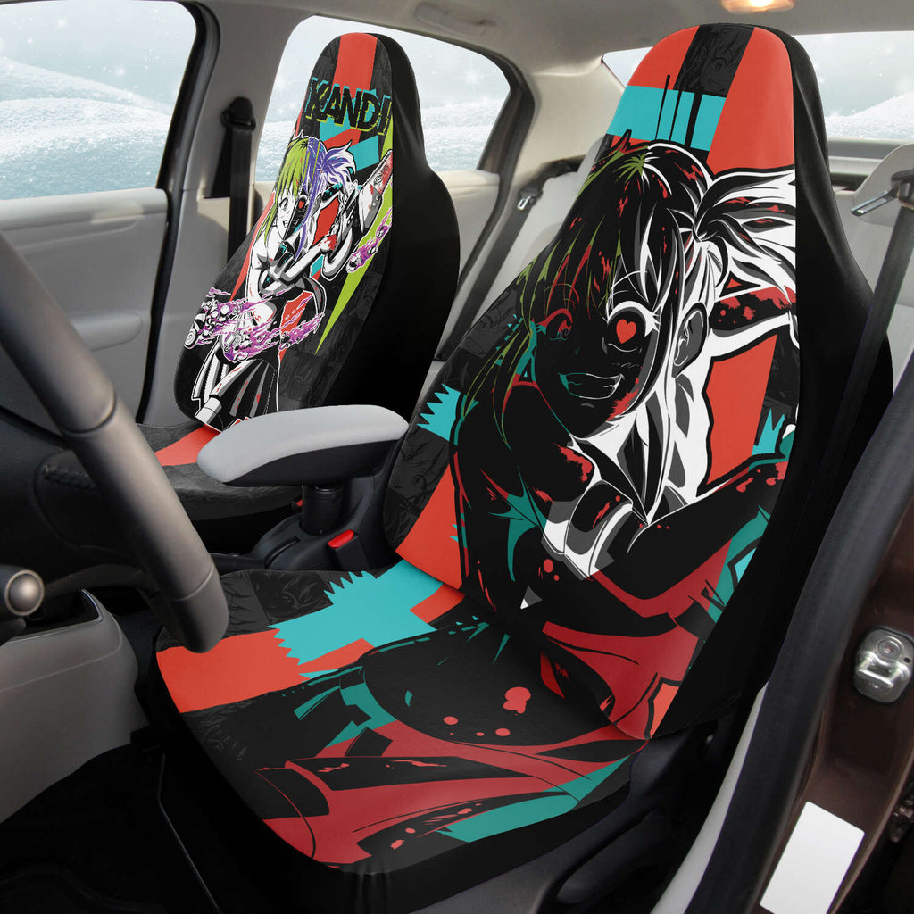 Kandi Cute Yandere Anime Girl Anime Car Seat Cover (x2)