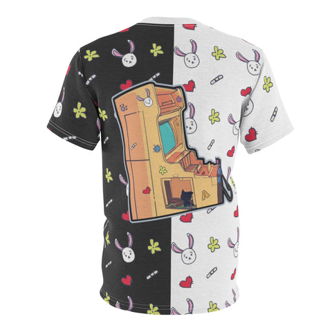 Image of Aahra Cute lazy anime girl Unisex AOP Cut & Sew T-shirt