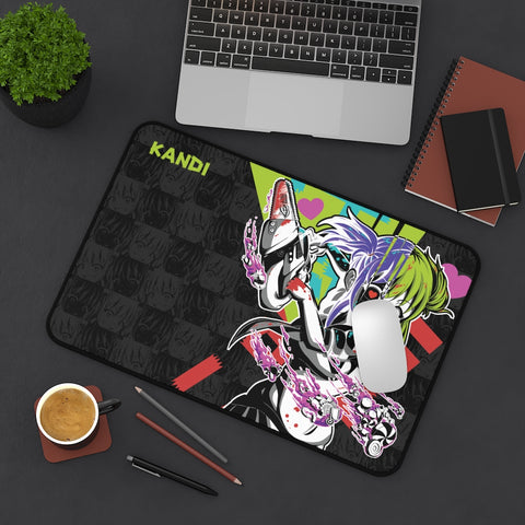 Image of Kandi - Cute yandere anime girl Large Mouse Pad Desk Mat