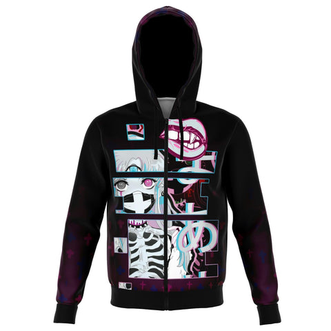 Maaya XP Creepy Cute anime Unisex AOP Zip Hoodie