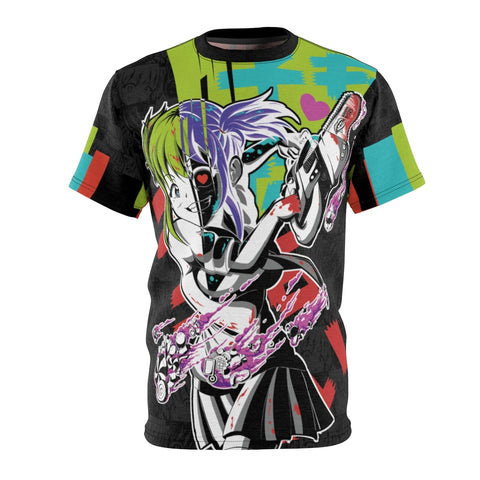 Image of Kandi Cute Yandere Anime Girl Unisex AOP Cut & Sew T-shirt